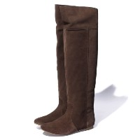 ★dポイントが貯まる★【SHIPS OUTLET(シップス アウトレット)】【SHIPS for women】2013FW SUEDE KNEE?HIGH BOOTS【dポイントでお得に購入】