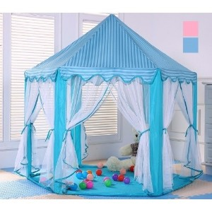 Children Kids Play Tent Fairy Little Prince Princess Castle Indoor And Outdoor Playhouse (125cm x 14