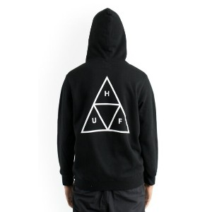 HUF Triple Triangle Pullover Hoodie Black S パーカー
