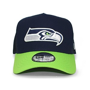 (ニューエラ) NEW ERA SEATTLE SEAHAWKS 【D-FRAME TRUCKER MESH CAP/NAVY-LIME】 アトル シーホークス