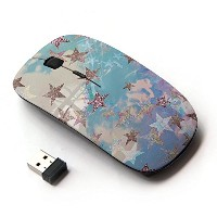 KOOLmouse [ ワイヤレスマウス 2.4Ghz無線光学式マウス ] [ Star Gold Glitter Clouds Blue Purple ]