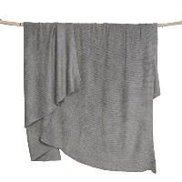 Barefoot Dreams Bamboo Chic Lite Blanket, 30 X 40, Pewter by Barefoot Dreams