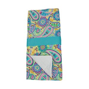 Caught Ya Lookin' Changing Pad, Yellow and Blue Paisley by Caught Ya Lookin'