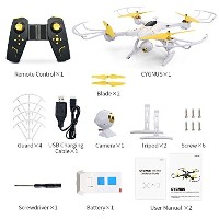 h39wh FPV Drone LEDナイトランプ、Kobwa 720p WiFi HDライブビデオRC Quadcopter with altitude Hold 2.4G 4CH 6...