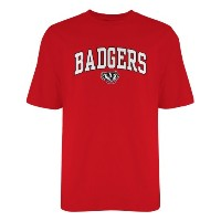 NCAA Wisconsin Badgers Old Varsity / Gildan Tシャツ 3L レッド
