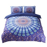 Zhhlinyuan 良質の寝具 Comfortable Soft Duvet Quilt Cover & Pillow Cases Stylish 3 Piece National style...