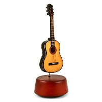 Amazing 18 Note Miniature Acoustic Guitar with Rotating Musical Base 237. Love Story (Love Story...