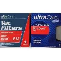 ~ New ~ Ultra Care Vacフィルタ、Dirt Devil f12 ( 4パック)