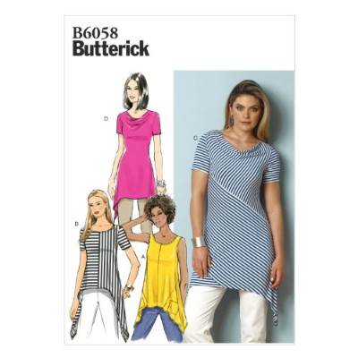 Butterick Patterns B6058 Misses' Tunic Sewing Template, Size E5 (14-16-18-20-22) by BUTTERICK...
