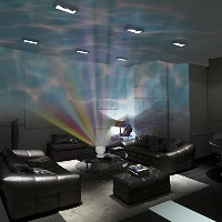 DreamWave Soothing & Relaxing Ocean Wave Projector LED Night Light with Built-in Stereo Speakers / ...