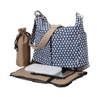 OiOi Hobo Diaper Bag, Navy/White by OiOi