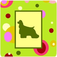 "Caroline 's Treasures ck1022fc Cocker Spaniel Foam Coasters ( Set of 4 )、3.5 "" H x 3.5 "" W ,マルチカラー"