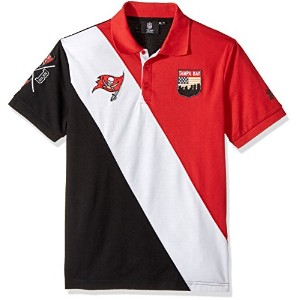 Tampa Bay Buccaneers Diagonal Stripe Cotton Rugby PoloメンズMサイズ