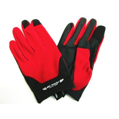MC works'/MCワークス ライトグローブ(LIGHT GLOVE) (RED&BLACK, S)