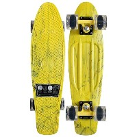 PENNY PLASTIC SKATEBOARD Complete Cruiser MARBLE YELLOW 22 Original by Penny