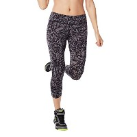 Zumba (ズンバ) Scribble Perfect Capri Leggings [並行輸入品] Gunmetal (S)