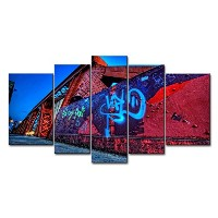 So Crazyアート® 5パネル壁アートPainting City Graffiti Street WallプリントキャンバスThe Picture City Pictures Oil...