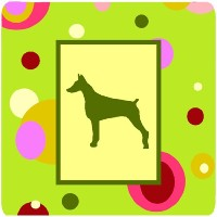"Caroline 's Treasures ck1077fc Doberman Foam Coasters ( Set of 4 )、3.5 "" H x 3.5 "" W ,マルチカラー"