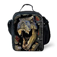 ZMASI 絶縁子供恐竜弁当袋 ピクニックバッグ Dinosaur Printed Thermal Insulated Lunch Bag (3)