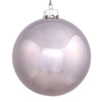 "Vickerman 4.75で。Shiny Ball ORNAMENT – SET OF 4 4.75"" グレー N591227DSV"