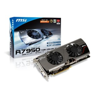 MSI AMD Radeon HD 7950 3 GB gddr5 DVI / HDMI / 2 x Mini DisplayPort PCI - Expressビデオカードr7950 Twin...