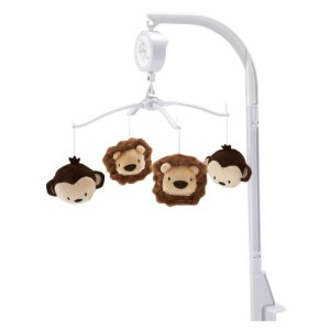 NoJo Little Bedding Jungle Pals Musical Mobile by NoJo