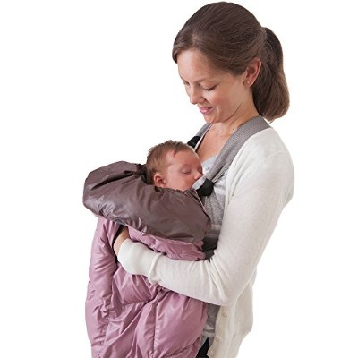 7AM Enfant Cygnet: 3-in-1 Cover for the Baby Carrier, Car-Seat and Stroller, Lilac/Brown by 7AM Enfant