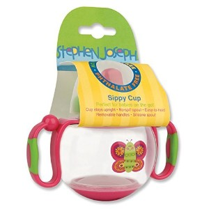Stephen Joseph Sippy Cup, Butterfly Pink by Stephen Joseph [並行輸入品]