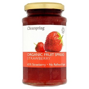 Clearspring Org Fruit Spread Strawberry 290 g (order 6 for trade outer) / クリアスプリング組織フルーツはイチゴ290グラムスプ...