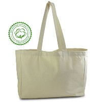 Natural Color Cotton Tote Bag, perfect for beach, grocery shopping, craft projects - extra thick,...