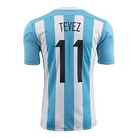 Adidas Tevez #11 Argentina Home Soccer Jersey 2015 YOUTH(Authentic name and number of player)...