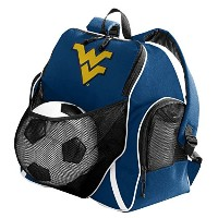 WVUボールバックパックWest Virginia Soccerまたはバレーボールバッグ