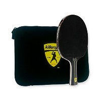 Killerspin JETBlack Table Tennis Paddle with Black Sleeve Racket Case, Black/Yellow [並行輸入品]