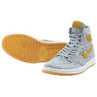 NIKE AIR JORDAN 1 RETRO HIGH FLYKNITナイキ エアー ジョーダン 1 フライニットWOLF GREY/GOLDEN HARVEST