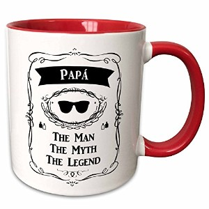 InspirationzStore The Man The Myth The Legend–Papa–The Man The Myth The Legend–Dadまたは父でスペイン語テキ...
