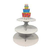 Birthday Cupcake Stand – 3層Treat Stand – Includes装飾表示トッパーfor Every Season
