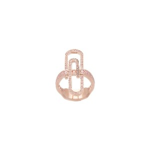 Vivienne Westwood - Doreen リング - women - Rose Gold Plated Brass - L