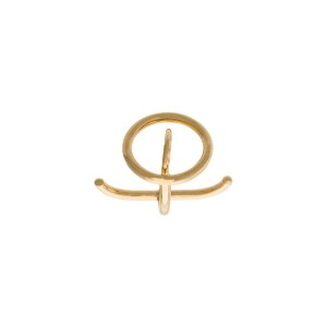 Charlotte Chesnais - Saturn リング - women - Gold Plated Silver - M