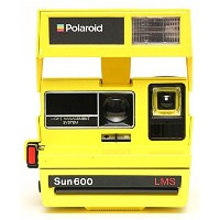 IMPOSSIBLE POLAROID 600 Camera 80s Custom Block Color Yellow 4615[生産完了品 在庫限り]