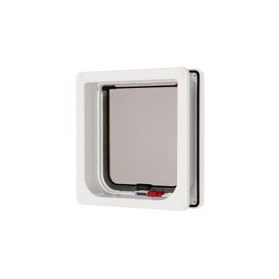Cat Mate Lockable Cat Flap with Door Liner White by Cat Mate