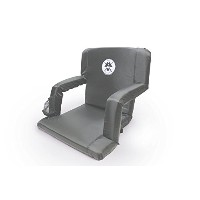 TheキャプテンChair–Wide Stadium Seat Chair for、ボート、砂浜BleachersまたはBenches–パッド入りクッションBack andアームレスト–...