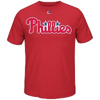 MLB Team Wordmarkクールベース合成Tシャツ(メンズXXL , Philadelphia Phillies )