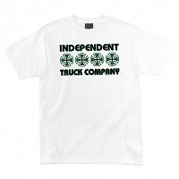 Independent スケボー Tシャツ Independent Stacked Color Mens Regular S S ホワイト インディペンデント Tシャツ S