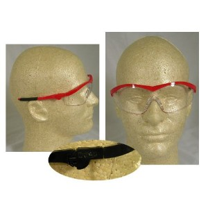 Crews Glasses 135-ST120 Storm Safety Glass with Navy Frame, Clear Lens by Crews