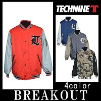 TECHNINE 15-16 VARSITY jacketジャケット メンズ スノーボードウェア 2016 L RED-ATHLETIC-GRAY-BLACK