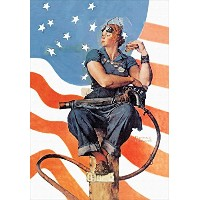 Rosie the Riveter – Armed Forces – 24 x 16マットポスター印刷ウォールアート