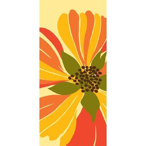 Paperproducts Design 35000 Soledad Abstract Flower Design 100-Percent Cotton Kitchen/Bar Towel by...