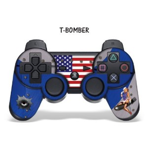 Designer skin for Playstation 3 Remote Controller PS3 - TBomber Blue