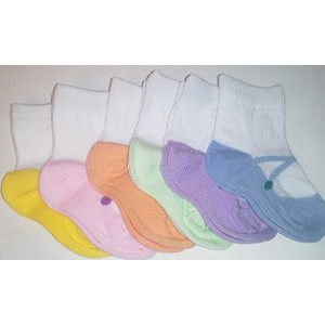 Baby Jane Socks 0-12 Months (0-12 Month) by KM Baby Socks