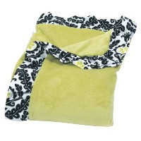 Trend Lab Waverly Rise and Shine Ruffle Trimmed Receiving Blanket, Black/White by Trend Lab [並行輸入品]